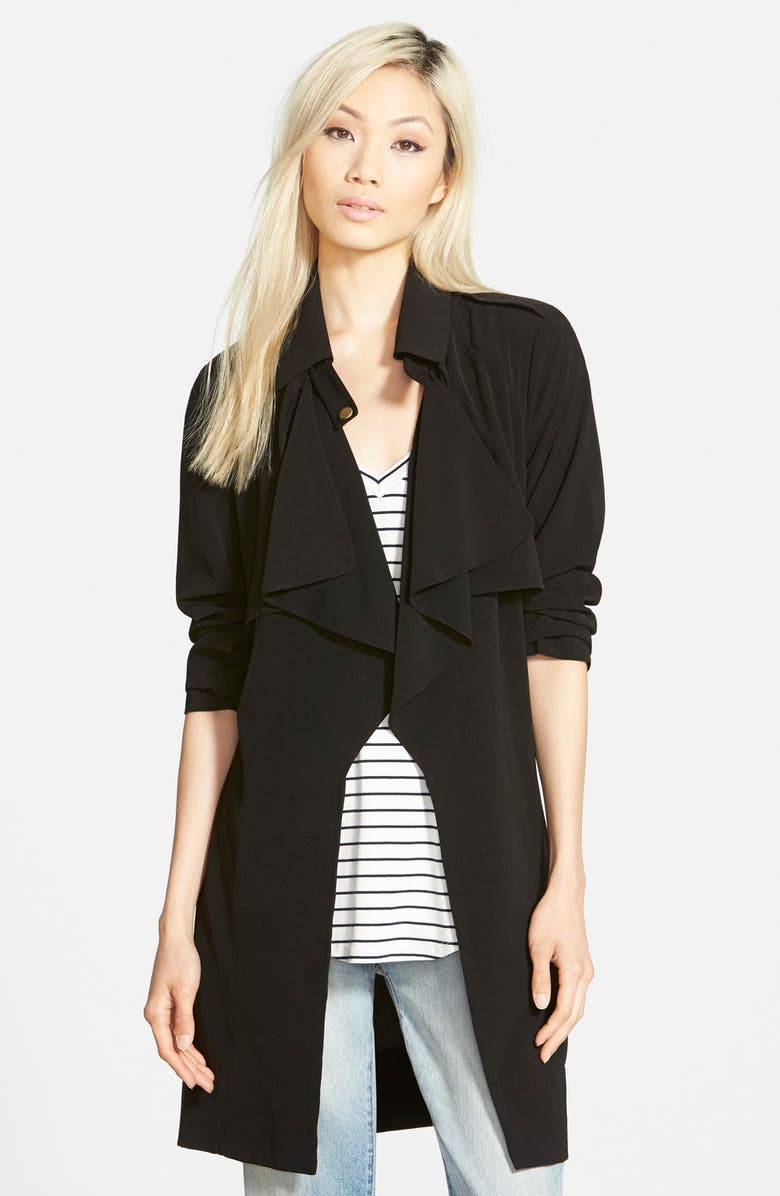 GLAMOROUS Drapey Trench, Main, color, 001