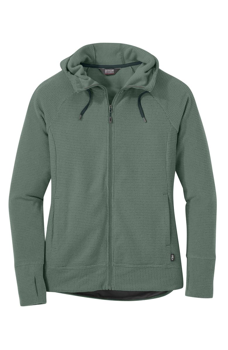 OUTDOOR RESEARCH Women's Trail Mix Hooded Fleece Jacket, Main, color, CYPRUS
