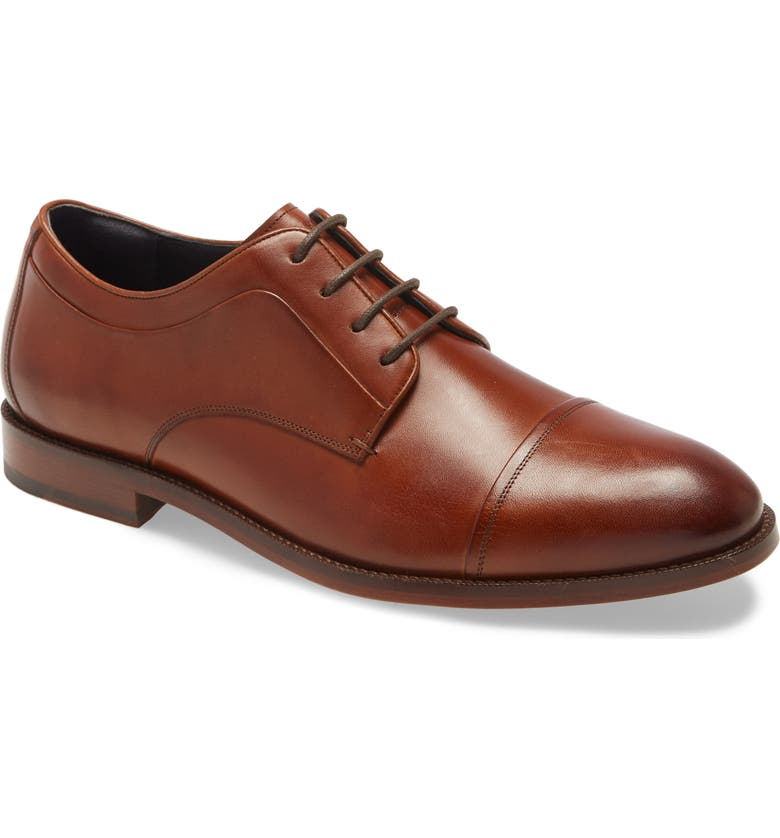 COLE HAAN Harrison Grand 2.0 Cap Toe Derby, Main, color, BRITISH TAN