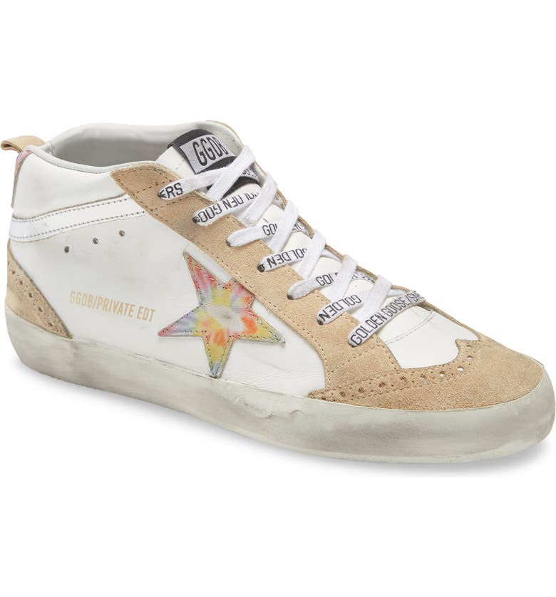 GOLDEN GOOSE Mid Star Sneaker, Main, color, WHITE LEATHER