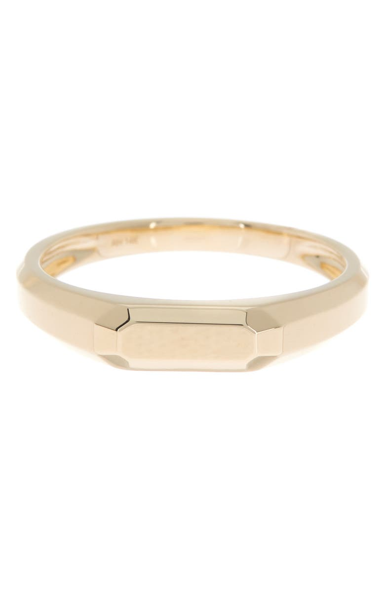 RON HAMI 14K Yellow Gold Faceted Band Ring, Main, color, YELLOW GOLD