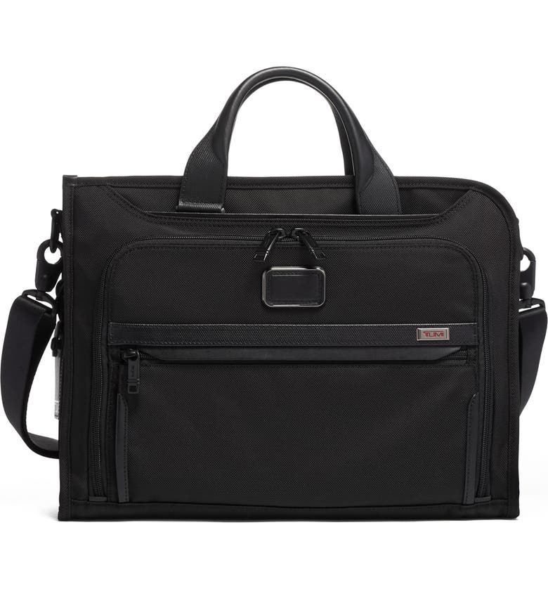 TUMI Alpha 3 Slim Deluxe Portfolio, Main, color, BLACK