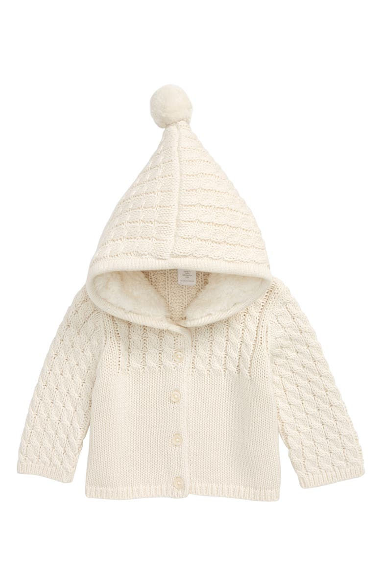 NORDSTROM Stitch Mix Plush Hooded Cardigan Sweater, Main, color, 900