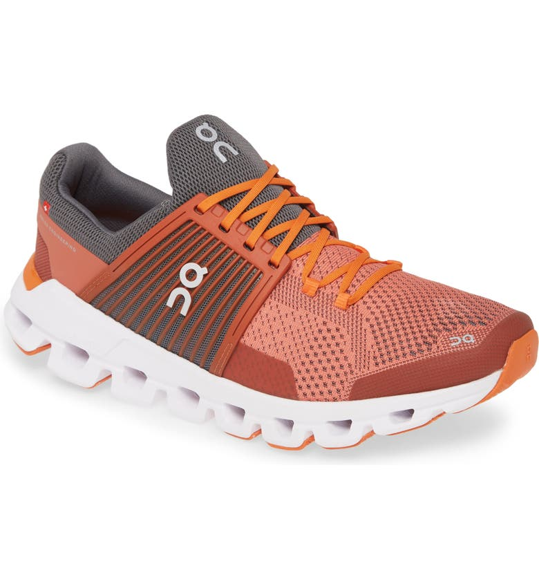 ON Cloudswift Running Shoe, Main, color, RUST/ ROCK