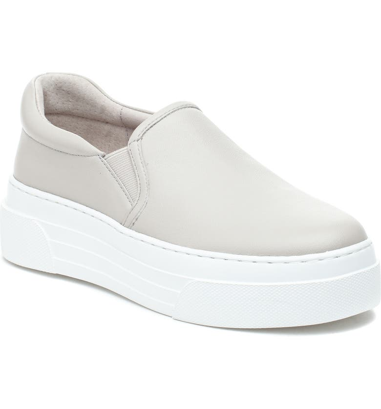 JSLIDES Aileen Platform Sneaker, Main, color, IVORY LEATHER