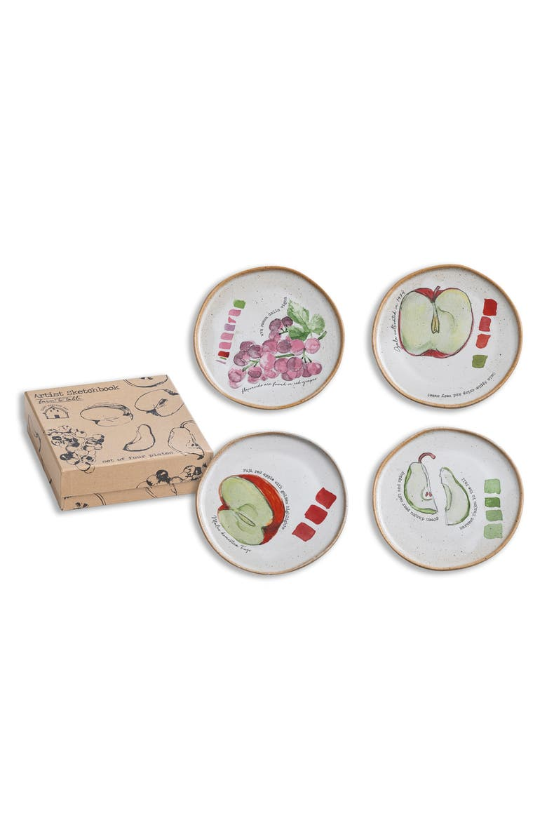 ROSANNA Artist Sketchbook - Farm to Table Set of 4 Appetizer Plates, Main, color, 900