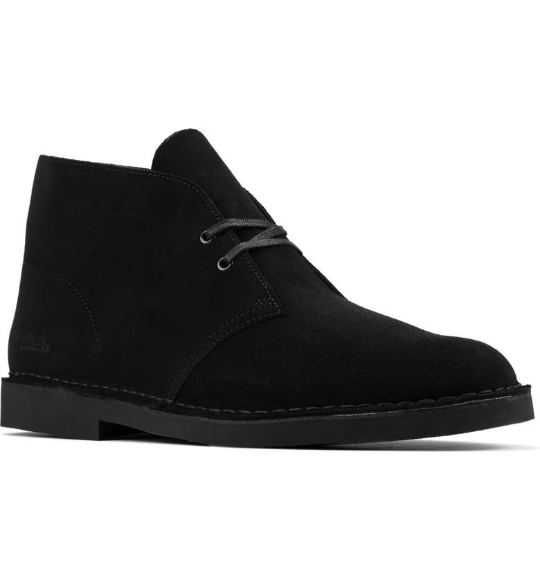 CLARKS<SUP>®</SUP> Desert 2 Chukka Boot, Main, color, BLACK SUEDE