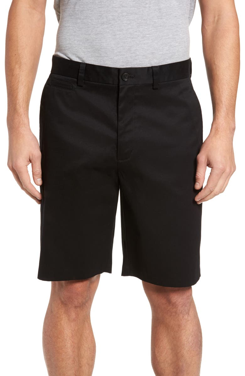 NORDSTROM Smartcare<sup>™</sup> Flat Front Shorts, Main, color, 001