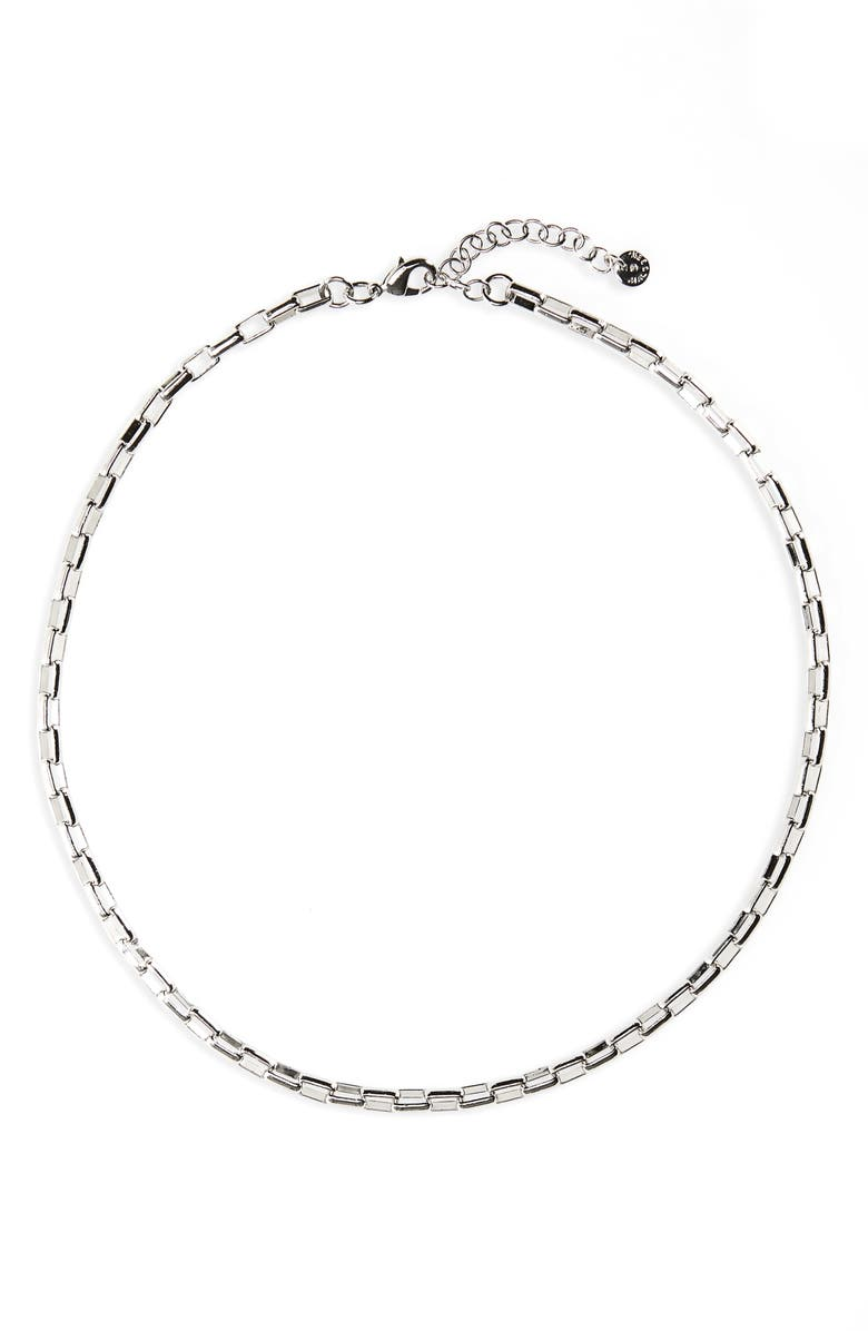 NORDSTROM Box Chain Collar Necklace, Main, color, NO_COLOR