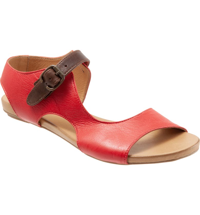 BUENO Kina Sandal, Main, color, RED LEATHER