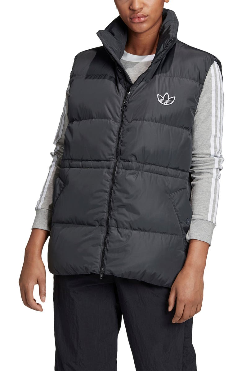 ADIDAS ORIGINALS Down Quilted Vest, Main, color, 001