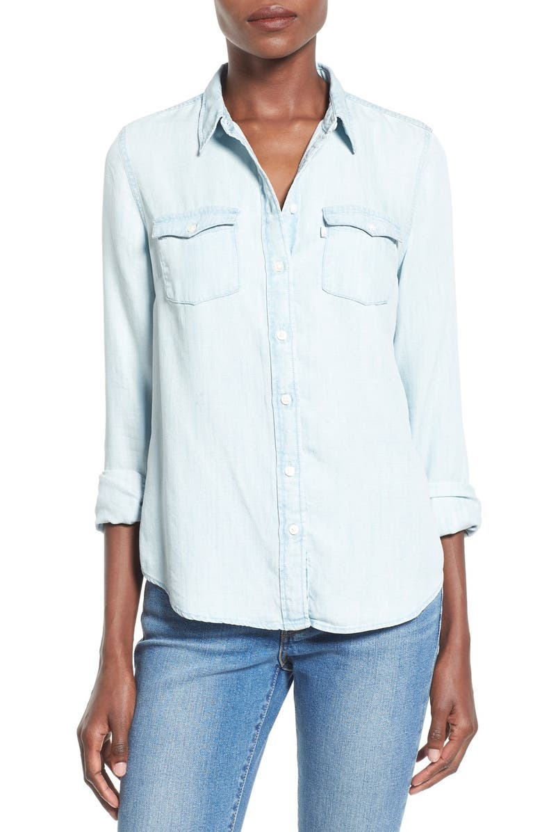 LEVI'S<SUP>®</SUP> 'Modern Western' Button Front Shirt, Main, color, 400