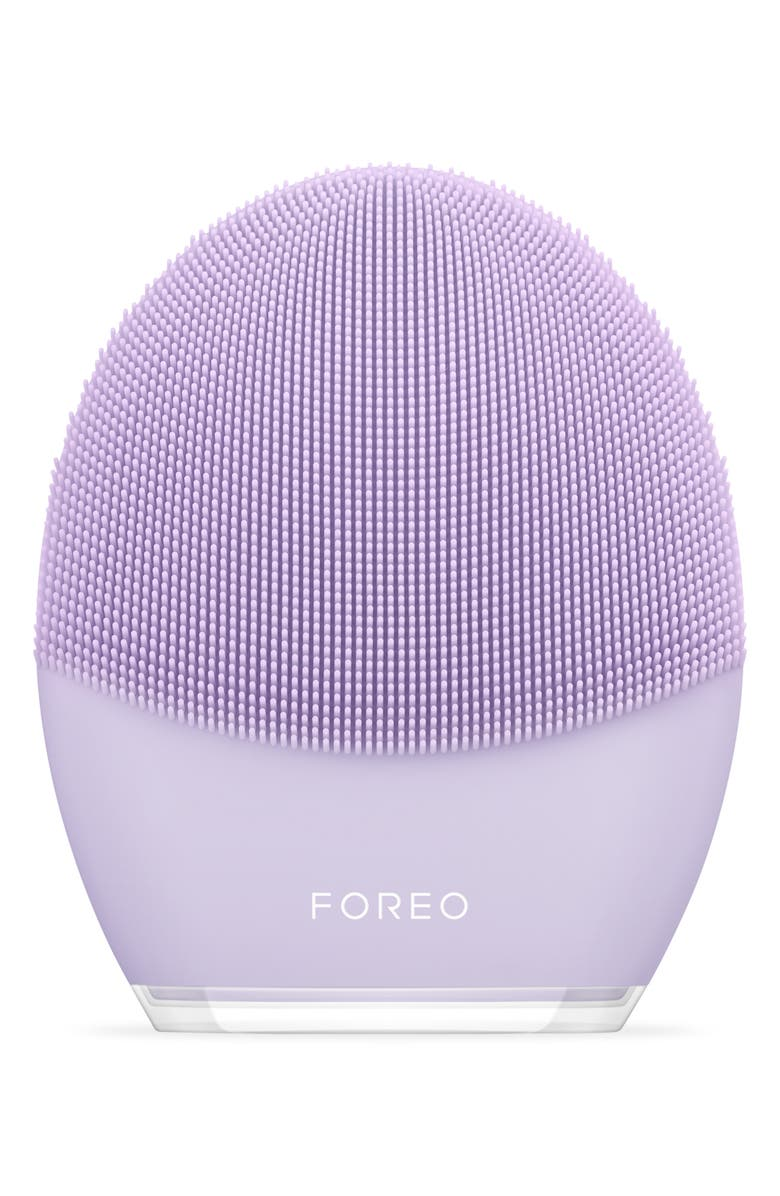FOREO LUNA<sup>™</sup> 3 Sensitive Skin Facial Cleansing & Firming Massage Device, Main, color, NO COLOR
