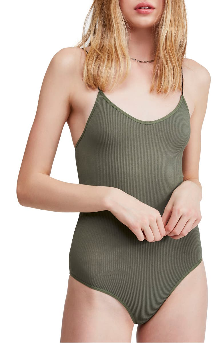 BDG URBAN OUTFITTERS Bungee Strap Bodysuit, Main, color, 300