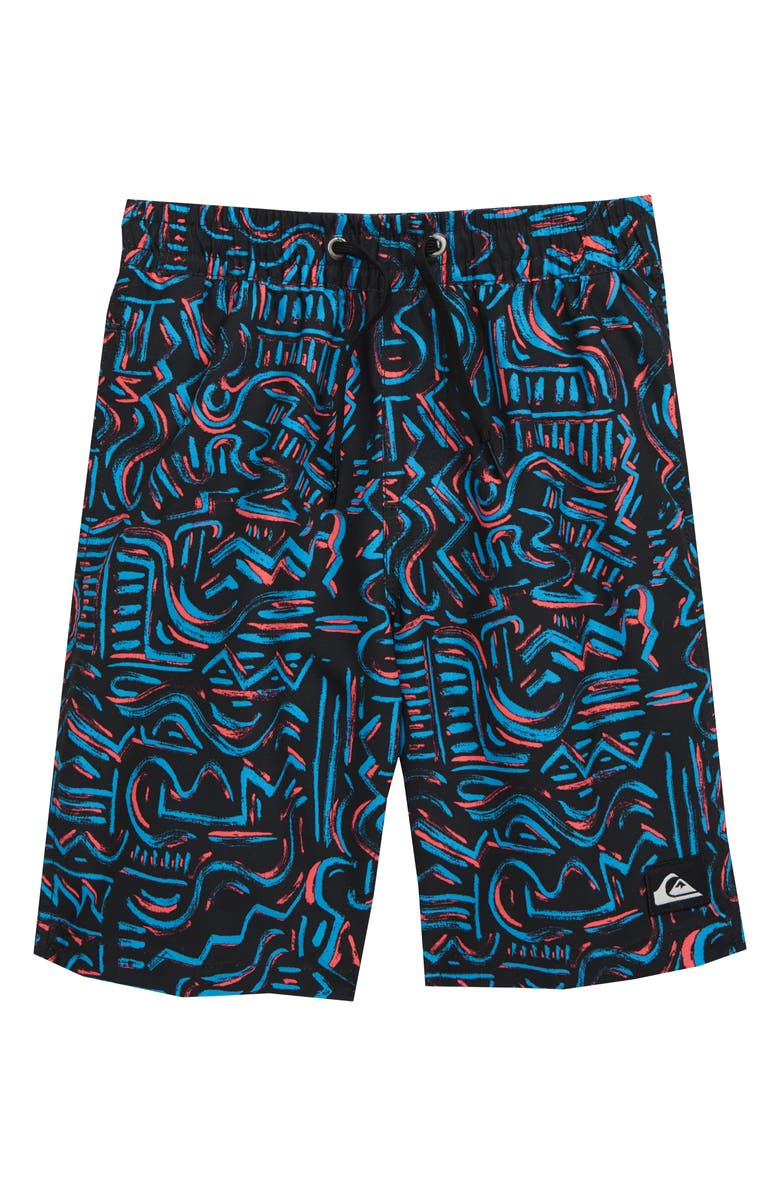 QUIKSILVER Tropical Brush Volley Shorts, Main, color, 002