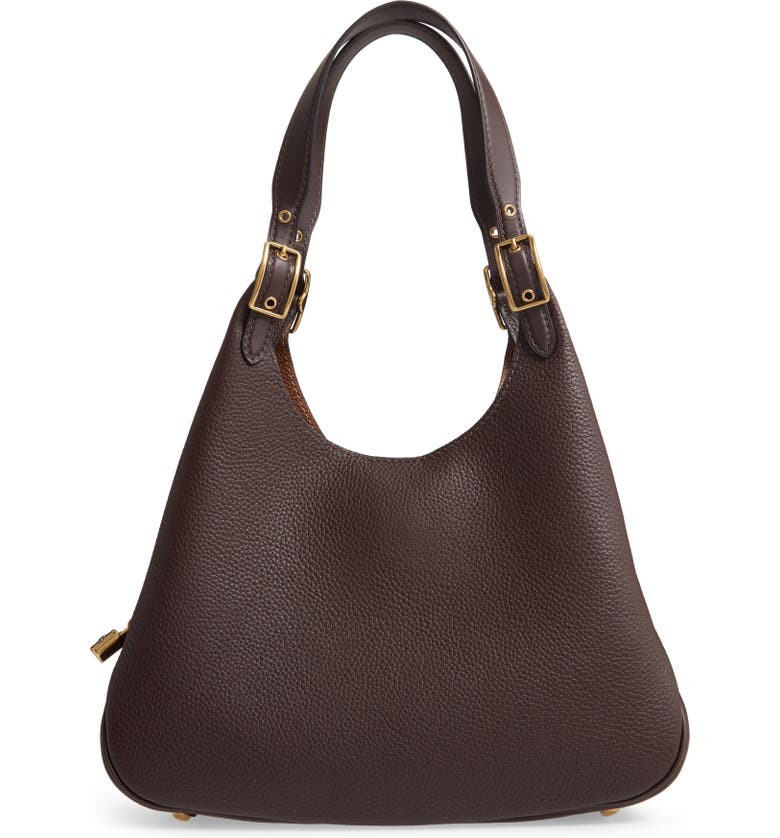 COACH Cass Leather Hobo Bag, Main, color, 200