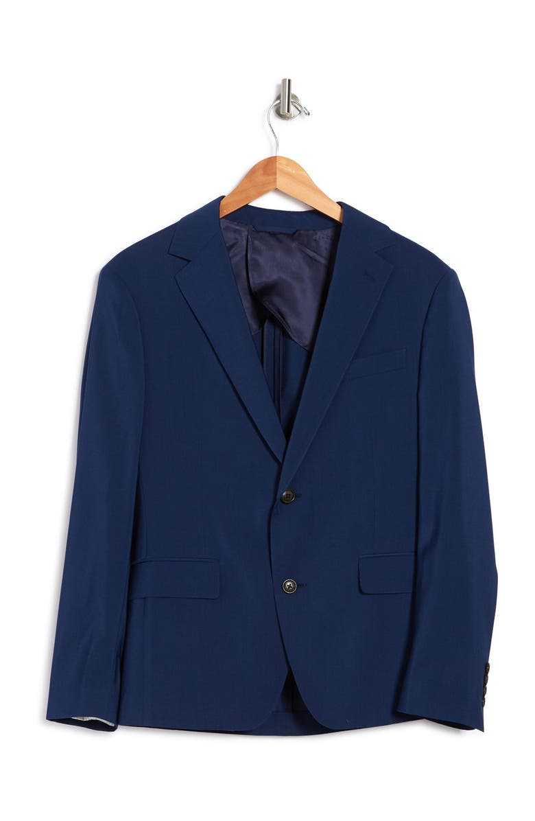 BONOBOS Bright Navy Two Button Notch Lapel Wool Sport Coat, Main, color, BRIGHT NAVY