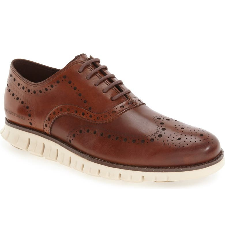 COLE HAAN ZeroGrand Wingtip Derby, Main, color, BRITISH TAN