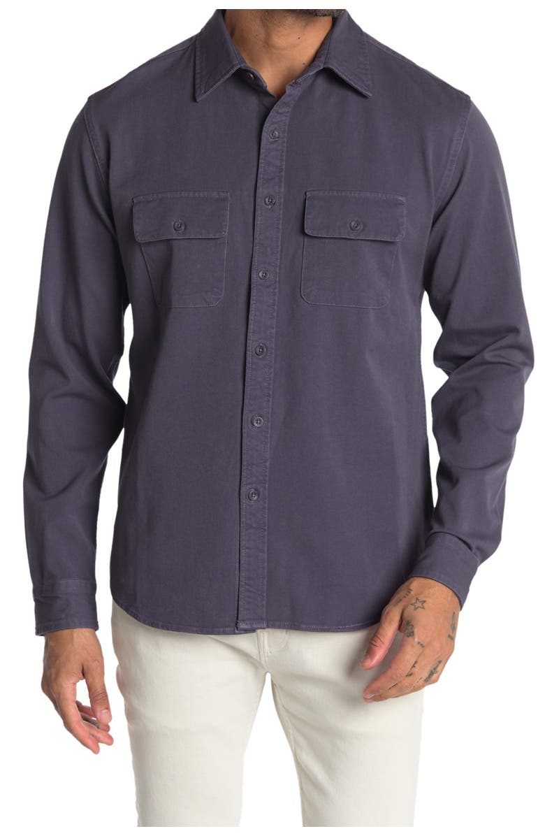 THE NORMAL BRAND Shooter 4-Way Stretch Shirt, Main, color, CHARCOAL