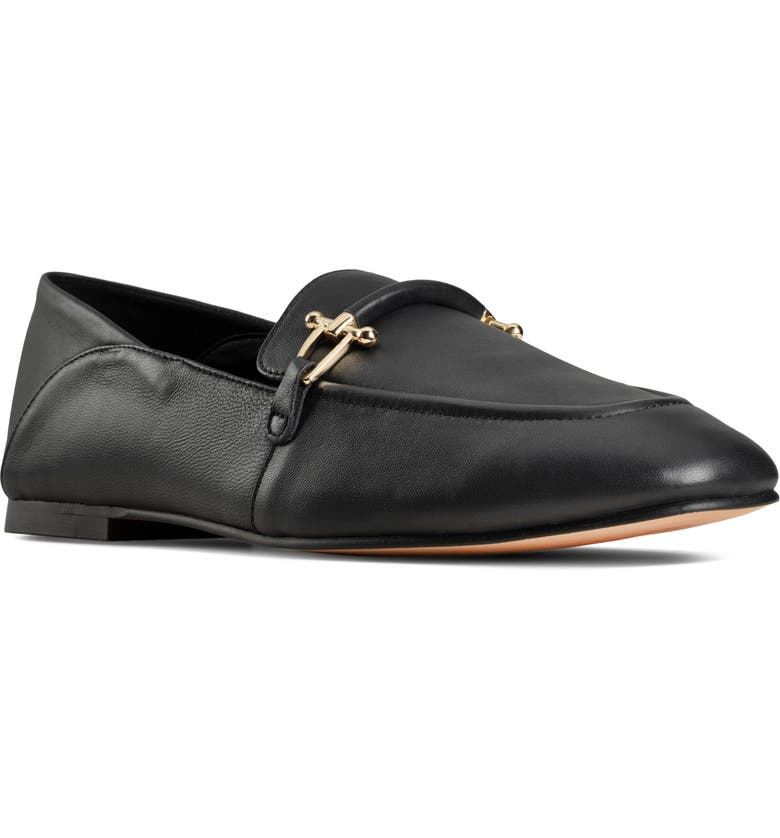 CLARKS<SUP>®</SUP> Pure2 Loafer, Main, color, BLACK/ BLACK LEATHER