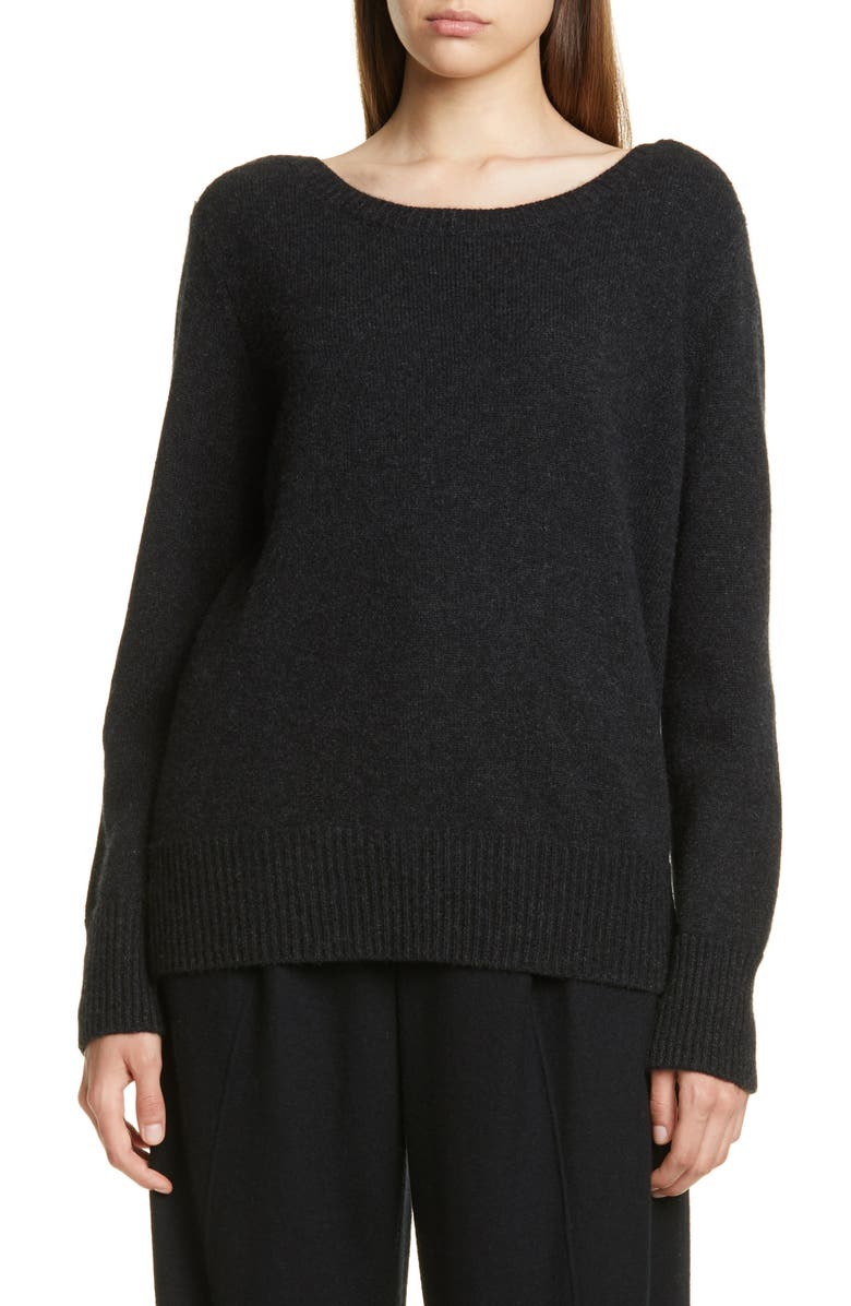 VINCE Boat Neck Cashmere Sweater, Main, color, 020