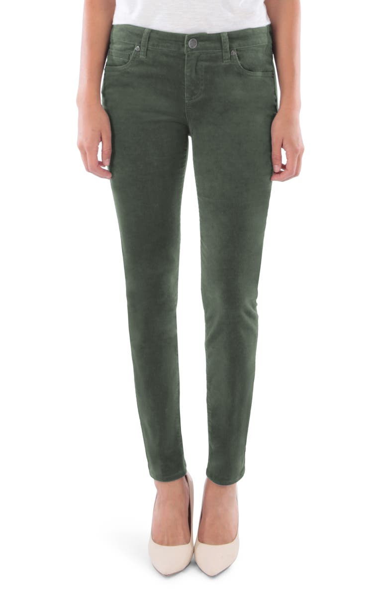 KUT FROM THE KLOTH Diana Stretch Corduroy Skinny Pants, Main, color, THYME