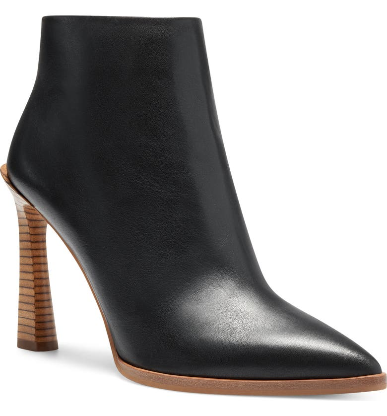 VINCE CAMUTO Pezlee Pointed Toe Bootie, Main, color, BLACK LEATHER