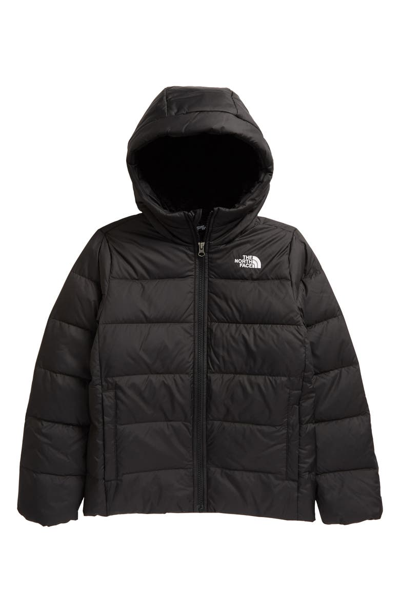 THE NORTH FACE Kids' Moondoggy Water Repellent 550 Fill Power Down Jacket, Main, color, TNF BLACK