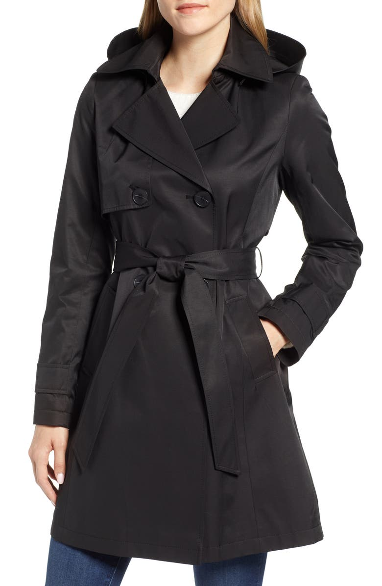 HALOGEN<SUP>®</SUP> Hooded Trench Coat, Main, color, 001