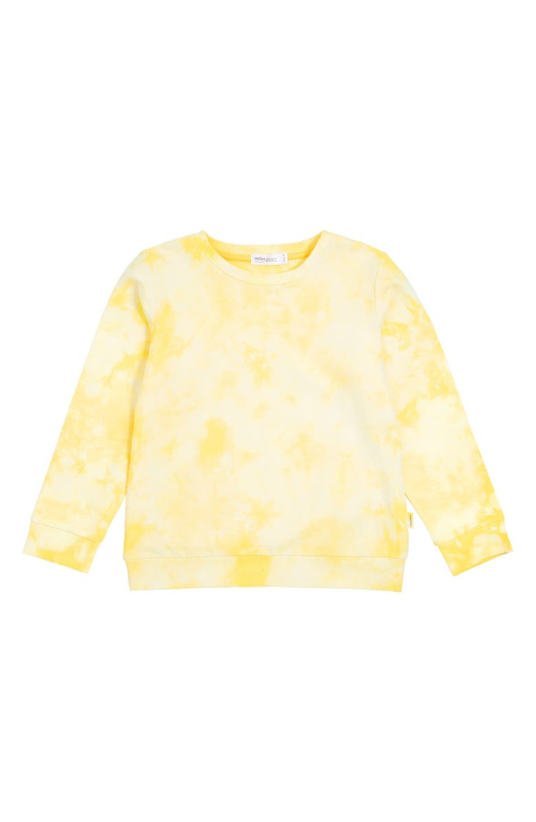 MILES Kids' Tie Dye Sweatshirt, Main, color, LT YELLOW