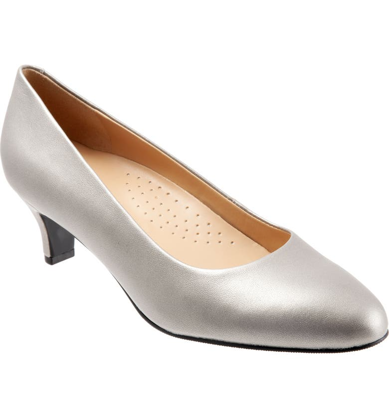 TROTTERS Fab Pump, Main, color, PEWTER LEATHER