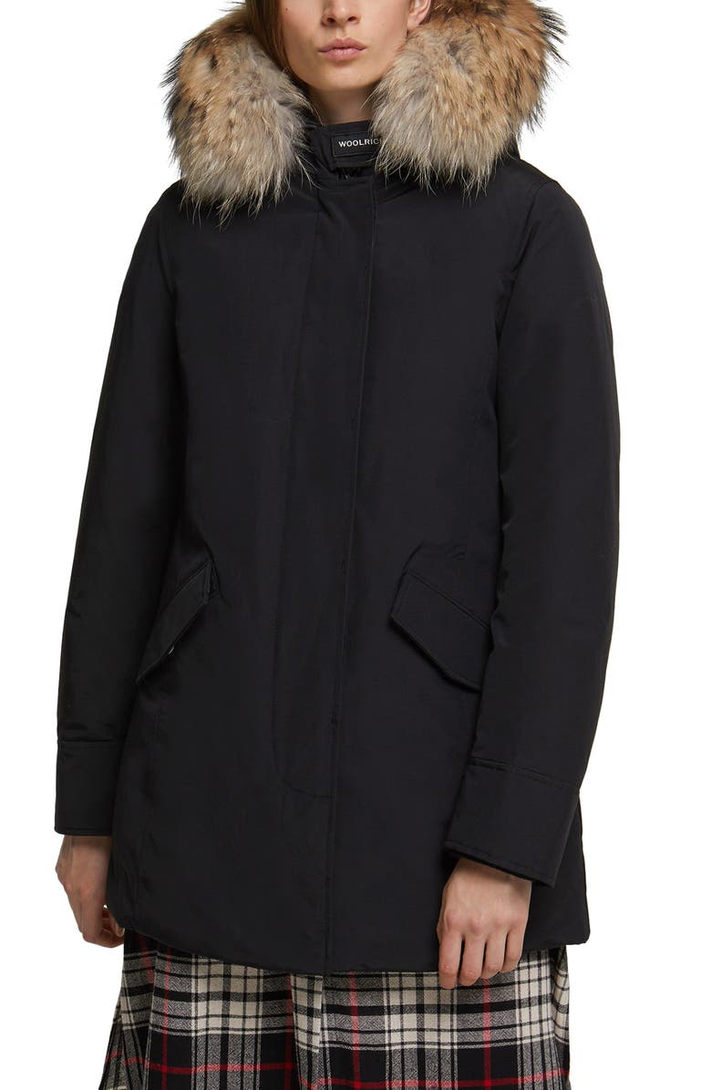 WOOLRICH Arctic Down Parka with Genuine Coyote Fur Trim, Main, color, 001