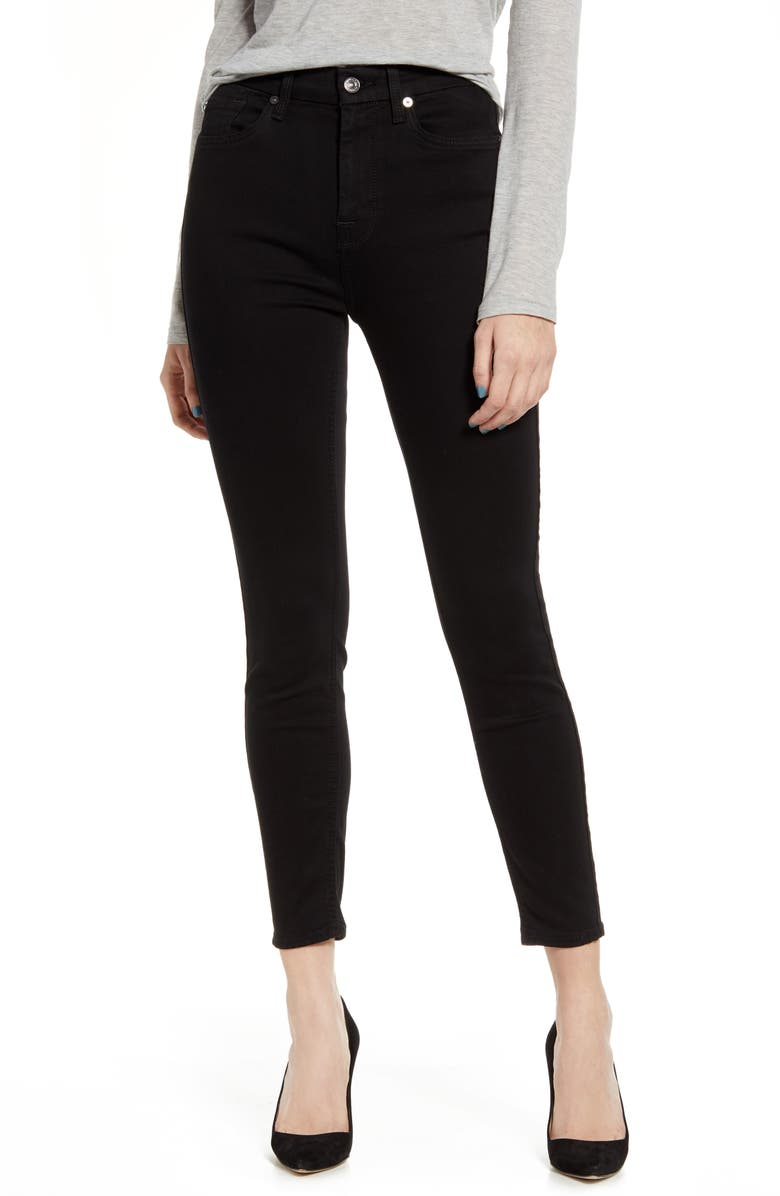 7 FOR ALL MANKIND<SUP>®</SUP> High Waist Ankle Skinny Jeans, Main, color, 004