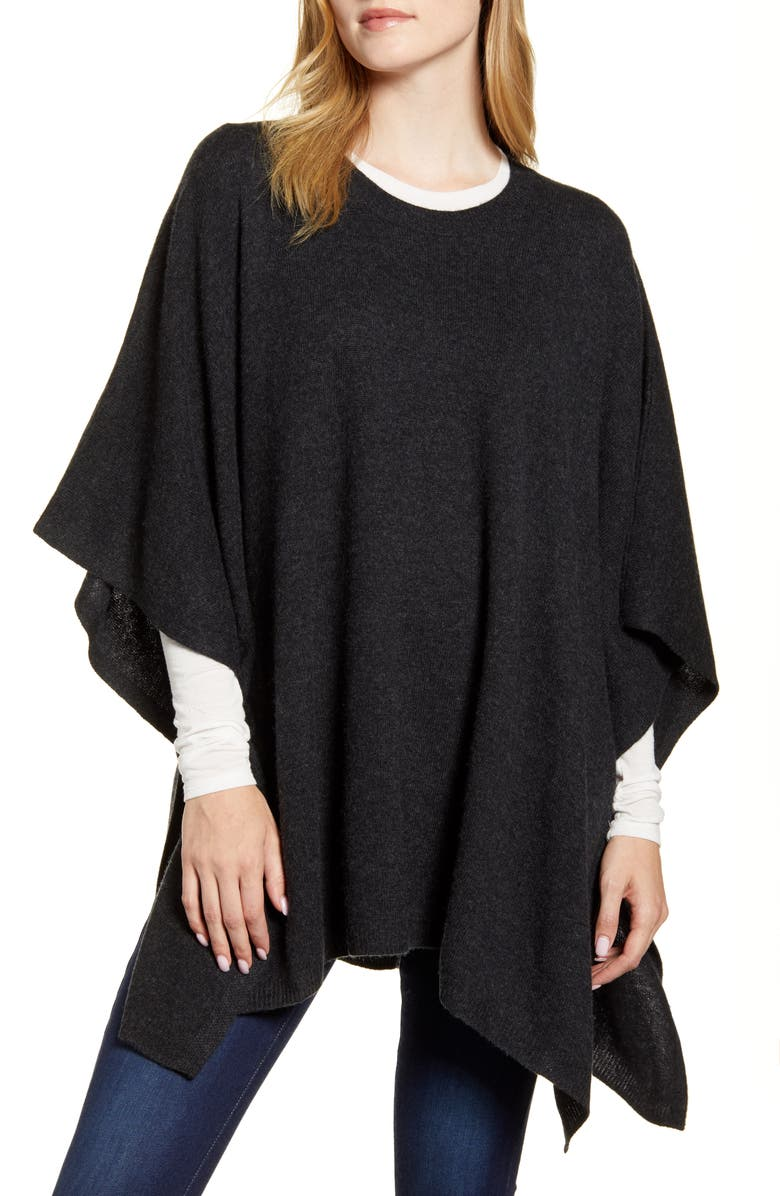 NORDSTROM Wool & Cashmere Poncho, Main, color, 030