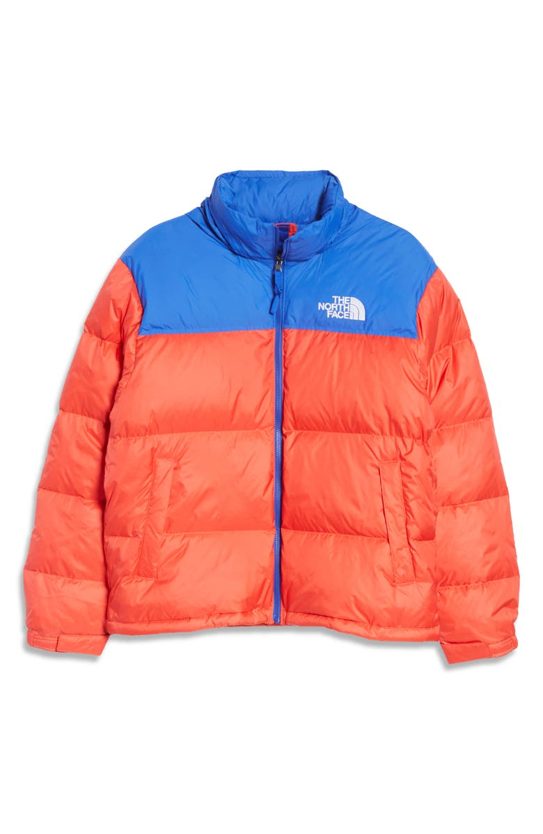 THE NORTH FACE Men's Nuptse<sup>®</sup> 1996 Packable Quilted Down Jacket, Main, color, HORIZON RED/ BLUE