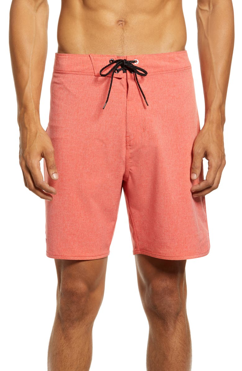 HURLEY Phantom One And Only Board Shorts, Main, color, CHILE RED HEATHER
