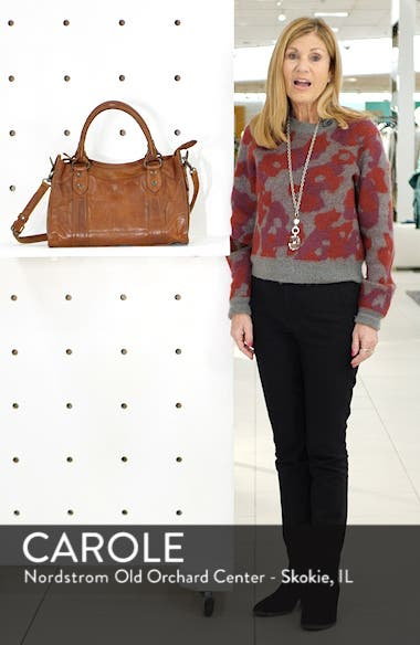 'Melissa' Washed Leather Satchel, sales video thumbnail