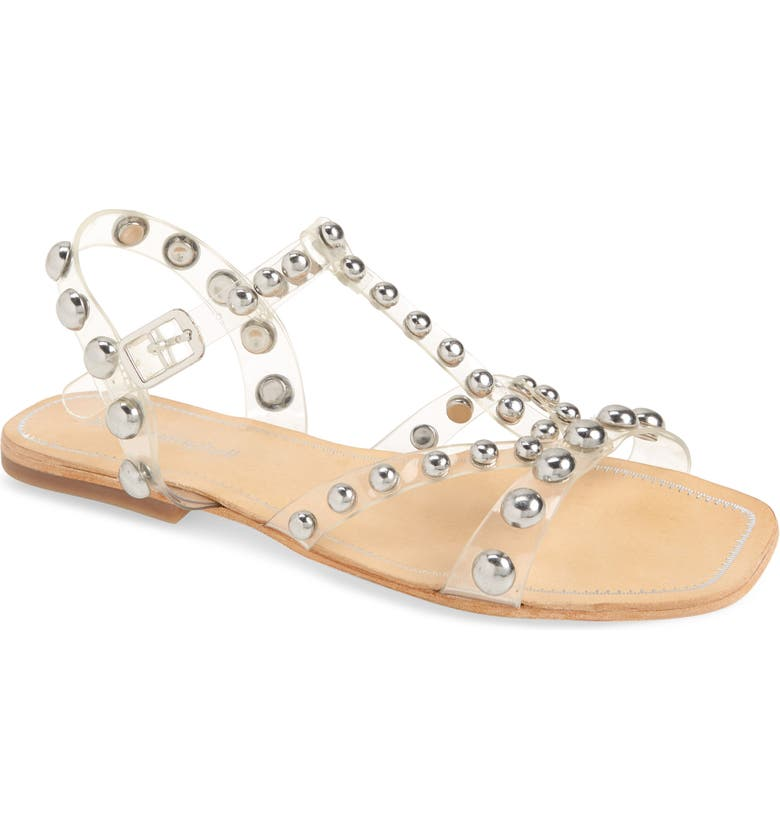JEFFREY CAMPBELL Amaryl Studded Clear Sandal, Main, color, 040