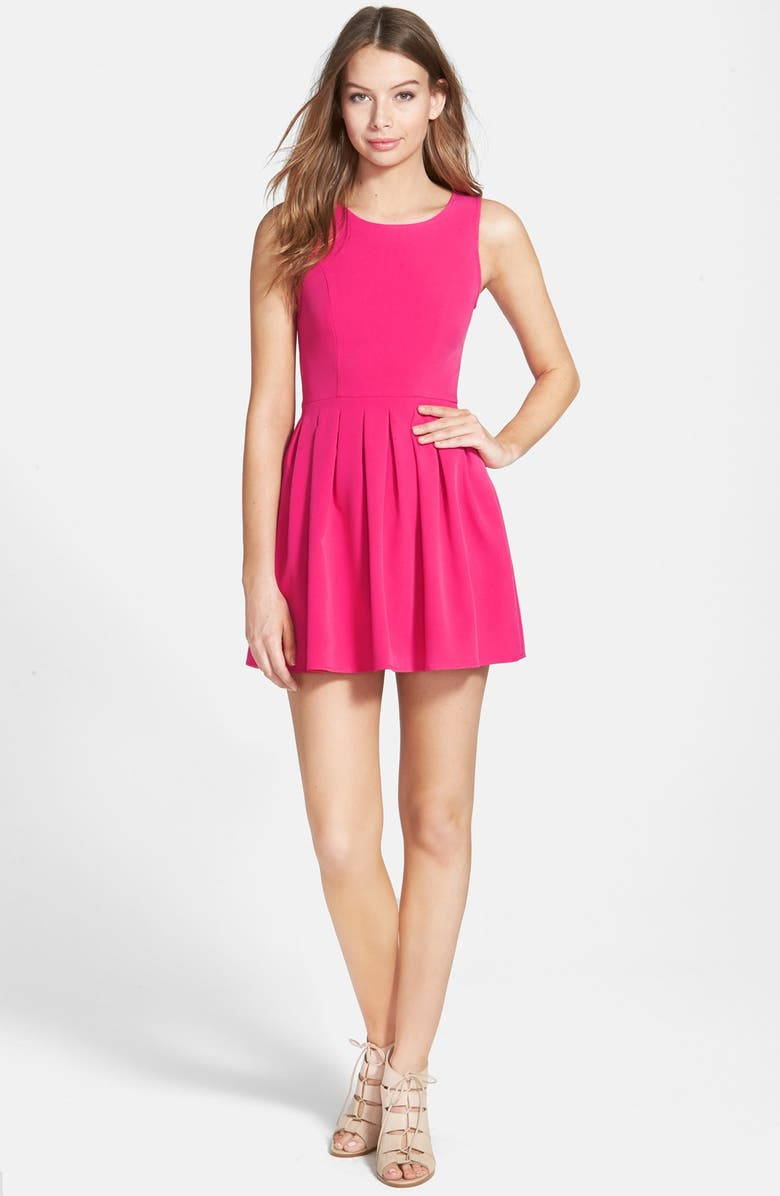SMAI NYC Pleated Skater Dress, Main, color, 650