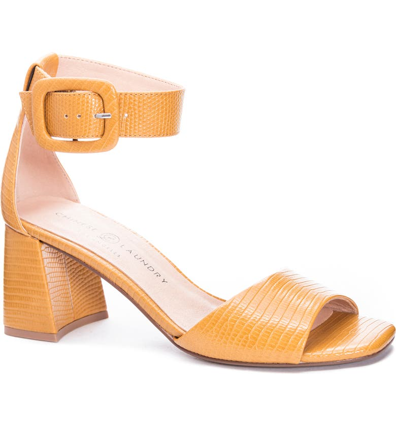 CHINESE LAUNDRY Yova Ankle Strap Sandal, Main, color, YELLOW