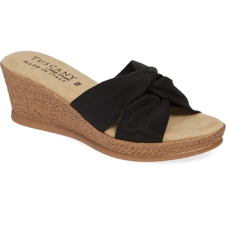 TUSCANY BY EASY STREET<SUP>®</SUP> Dinah Platform Wedge Sandal, Main, color, 001
