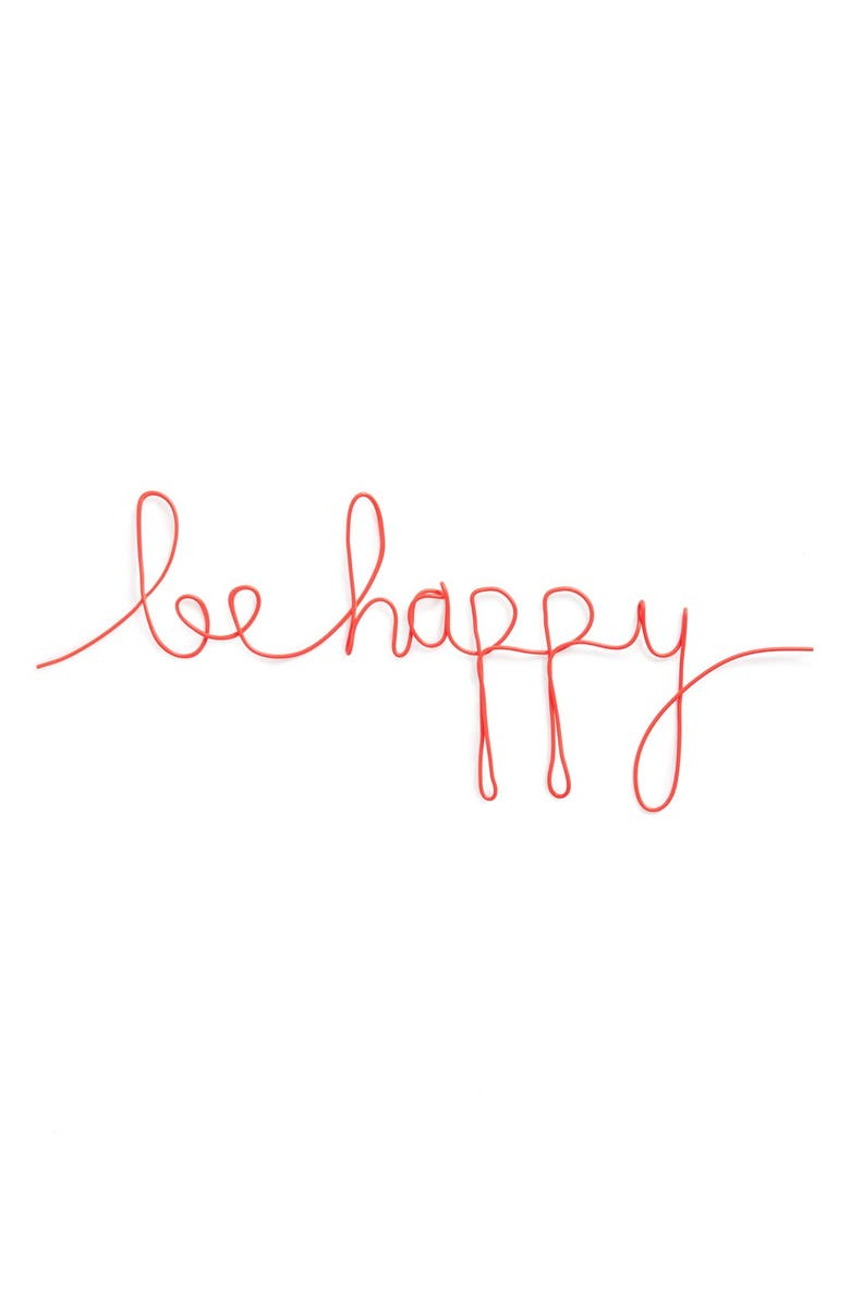NATURAL LIFE 'Be Happy' Wire Wall Art, Main, color, 650