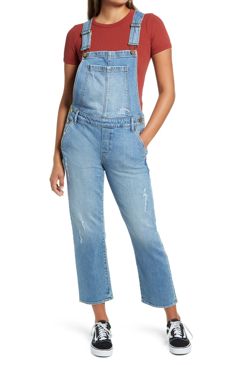 ARTICLES OF SOCIETY Straight Leg Crop Overalls, Main, color, MOORHEAD