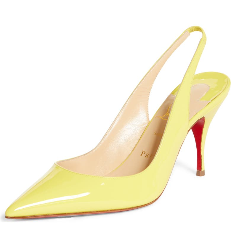 CHRISTIAN LOUBOUTIN Clare Pointed Toe Slingback Pump, Main, color, CITRONNADE