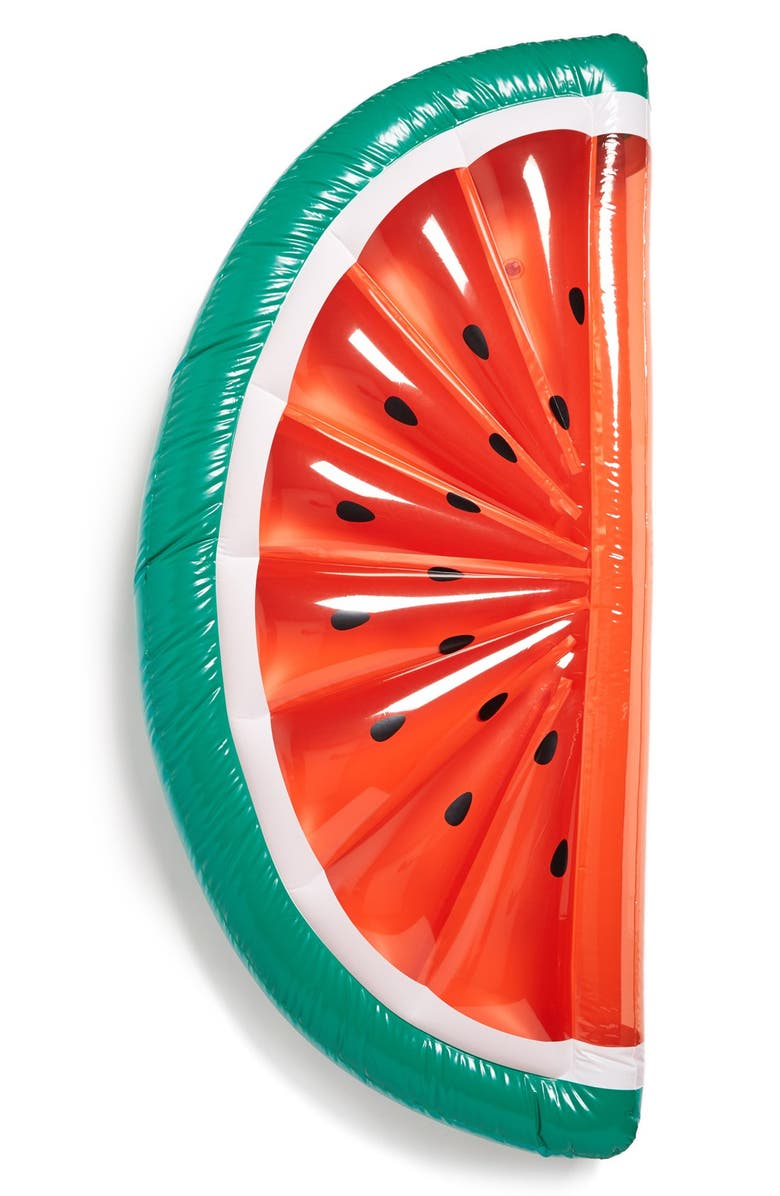 SUNNYLIFE 'Really Big' Inflatable Watermelon Pool Float, Main, color, RED