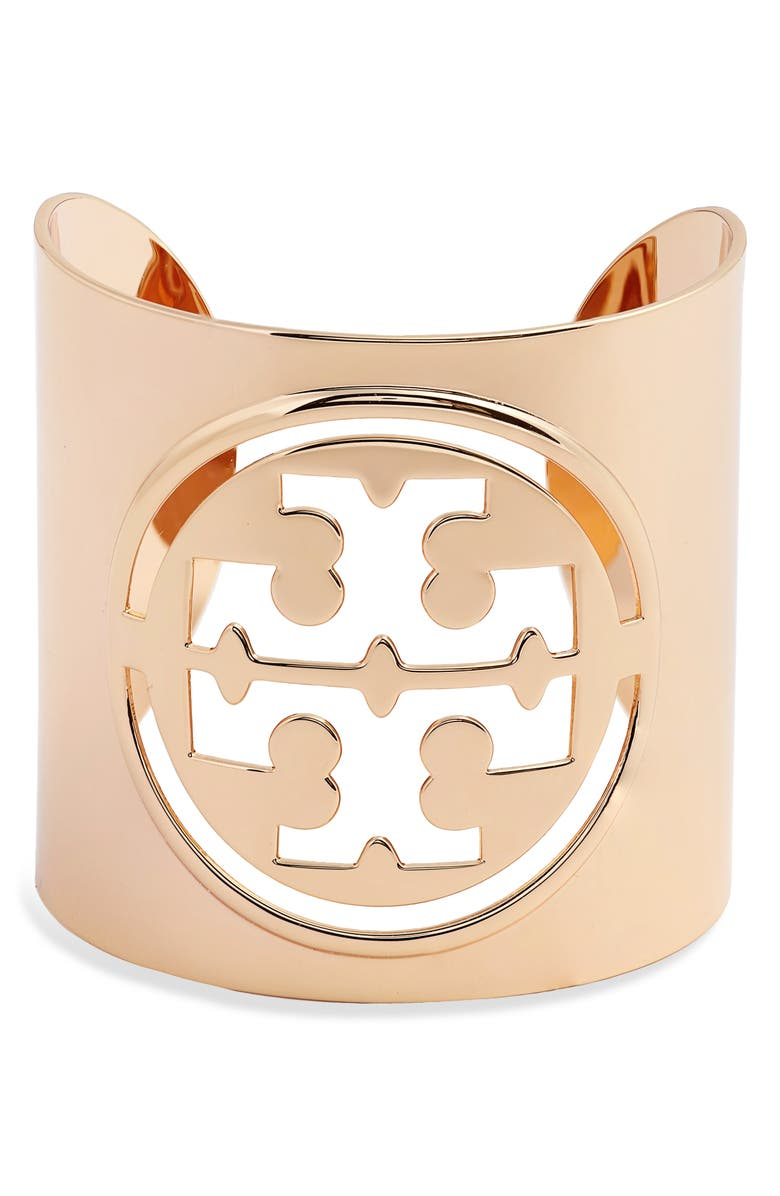 TORY BURCH Miller Small Cuff, Main, color, TORY GOLD