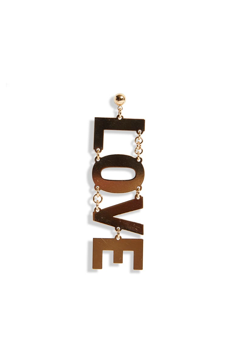 HFD Love Single Earring, Main, color, Gold