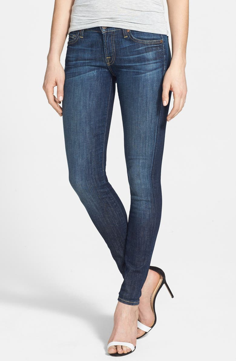 7 FOR ALL MANKIND <sup>®</sup> 'The Skinny' Mid Rise Skinny Jeans, Main, color, NOUVEAU NY DARK