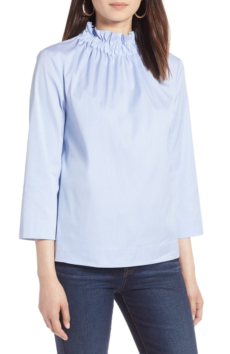 HALOGEN<SUP>®</SUP> Gathered Neck Blouse, Main, color, 102