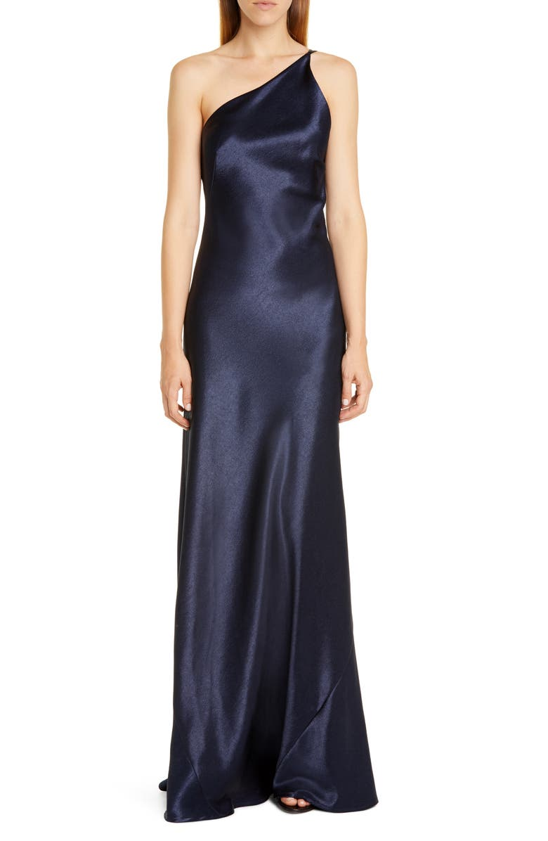 GALVAN One-Shoulder Satin Gown, Main, color, 401